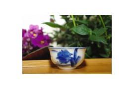 Tasse motif bleu